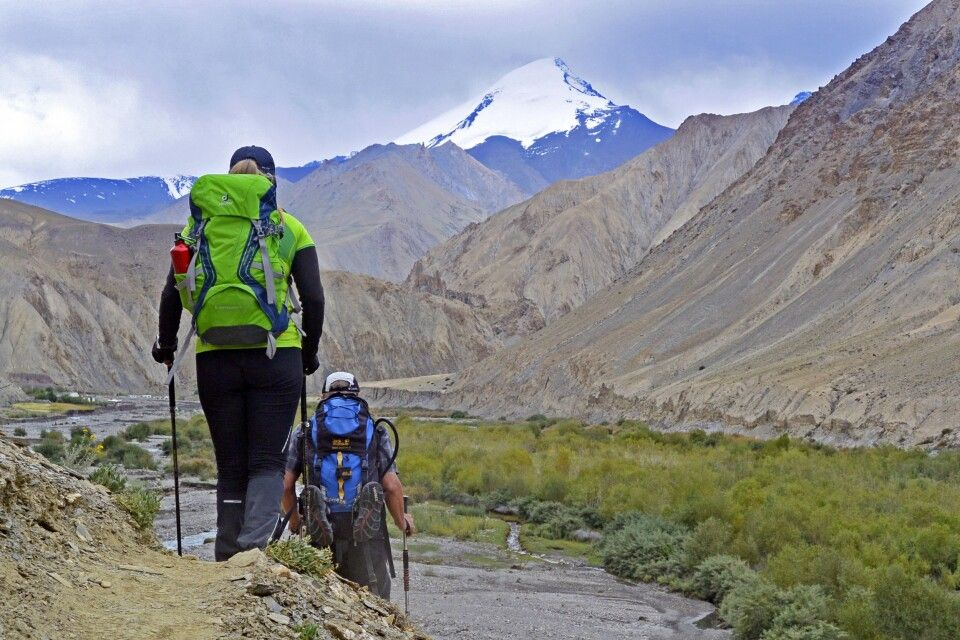 Markha Valley Trek, Hankar mit Blick auf Kang Yatze II II (6190m)