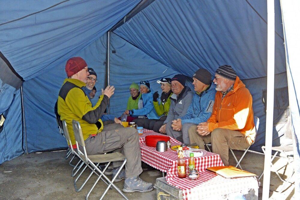 Markha Valley Trek, Camp Nimaling, Esszelt