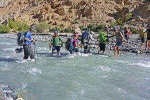 Markha Valley Trek, Flussquerung Skiu-Markha