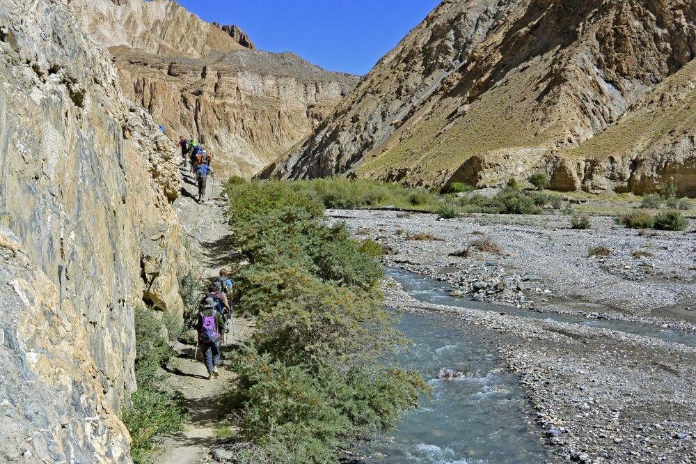 Trekker im Markha Valley