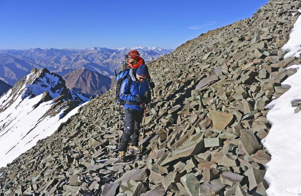 Stok Kangri, am Gipfelgrat