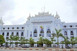 Das Rathaus von Yangon in Myanmar