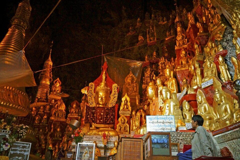 In den Höhlen von Pindaya