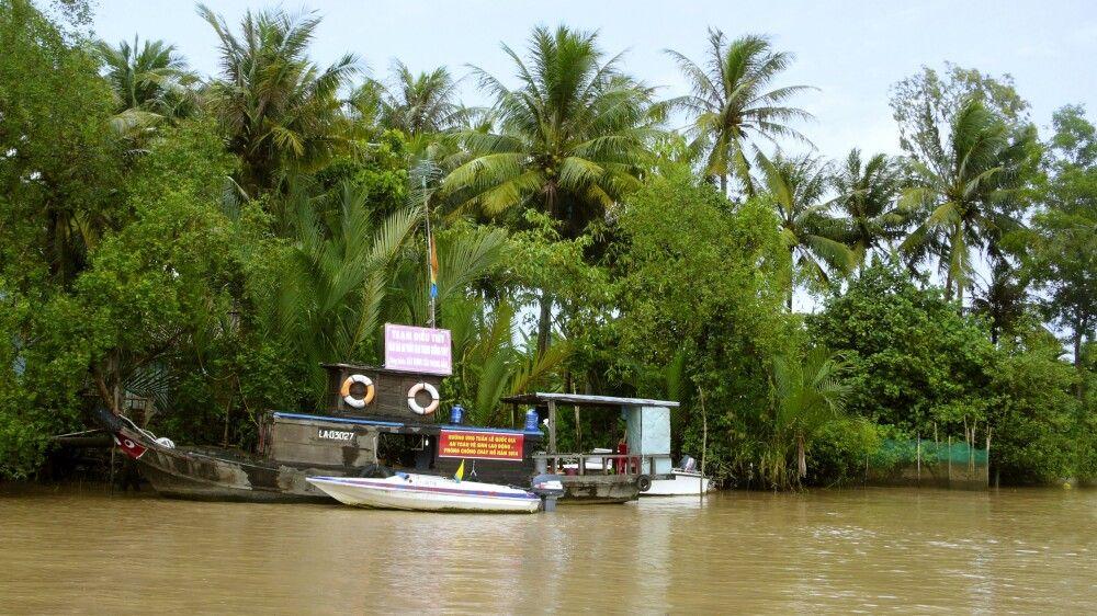 Im Mekongdelta, in dem es immer sehr geschäftig zugeht