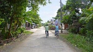 Mit dem Fahrrad unterwegs im Mekongdelta