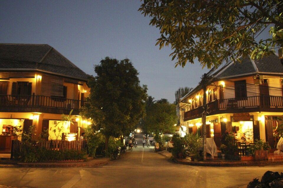 In den Gassen der kolonialen Altstadt Luang Prabangs