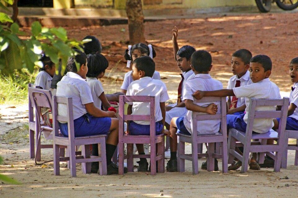 Schulklasse Wanderung Sigiriya