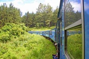 Zugfahrt im Hochland