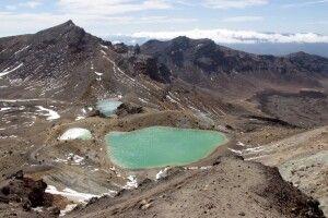 Gletscherseen beim tongariro Alpine Crossing