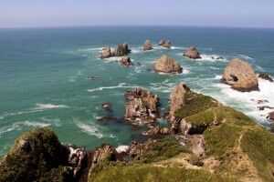 Der Nugget Point. Einer der südlichsten Punkte Neuseelands