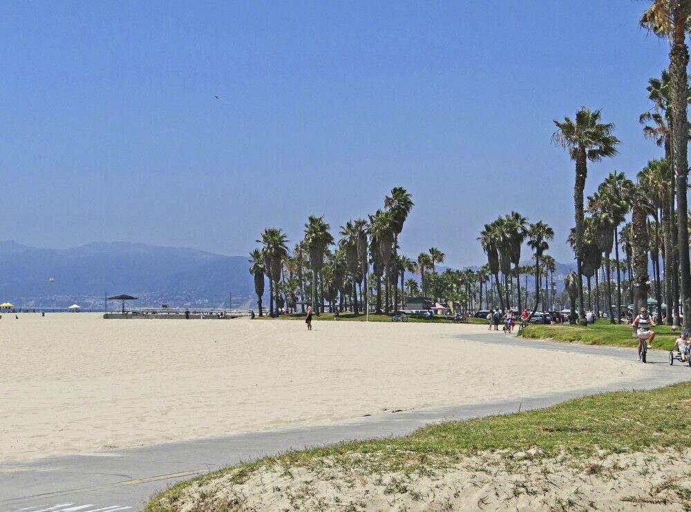 Der schöne Strandweg von Venice nach Santa Monica
