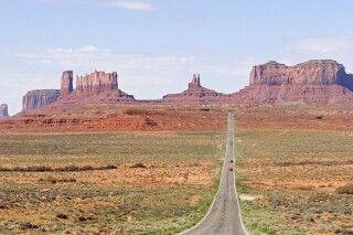 Straße zum Monument Valley in Utah