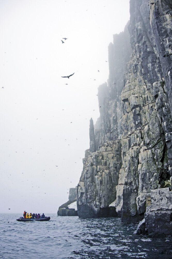Mystische Stimmung am Vogelfelsen Alkefjellet