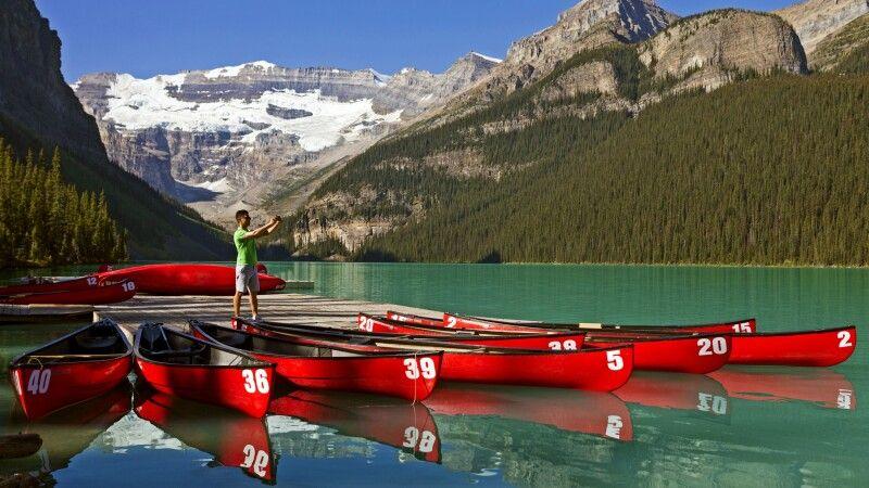 Der malerische Lake Louise im Banff NP © Diamir
