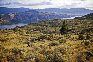 Der Kamloops Lake in der Region Lac Du Bois Grasslands