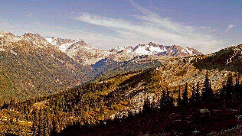 Ausblick auf die umliegenden Berge in Whistler © Diamir