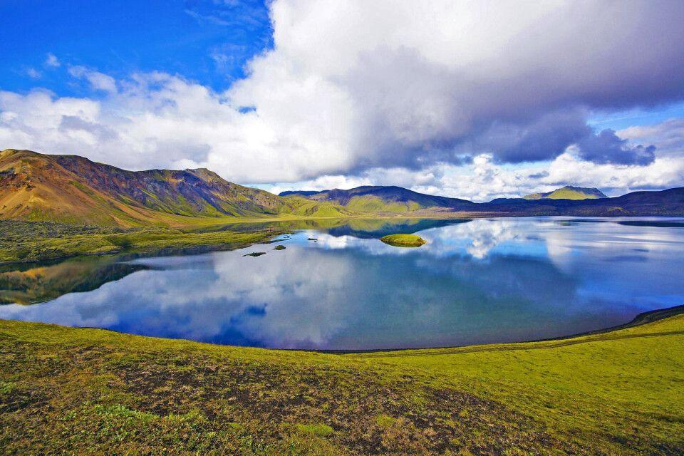 Farbenfrohe Landschaft im Hochland