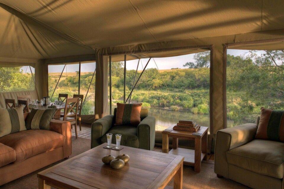 Lounge im Rekero Camp