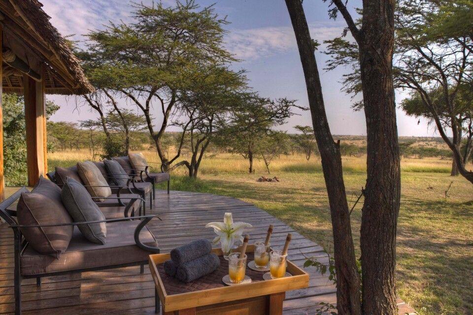 Lounge im Naboisho Camp