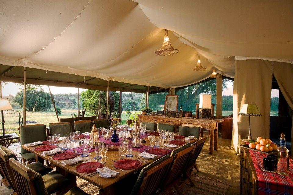 Speisezelt im Kicheche Mara Camp