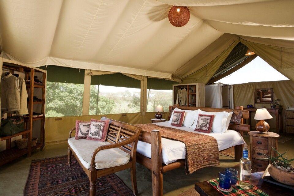 Zelt von Innen im Kicheche Mara Camp