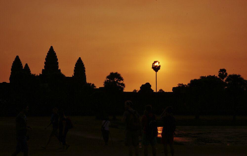 Angkor Wat im Sonnenaufgang