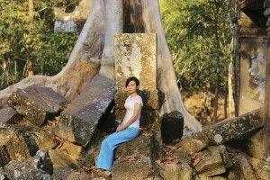 Begegnung in den Ruinen von Angkor