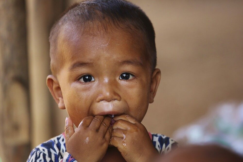Kinderportrait in Kambodscha