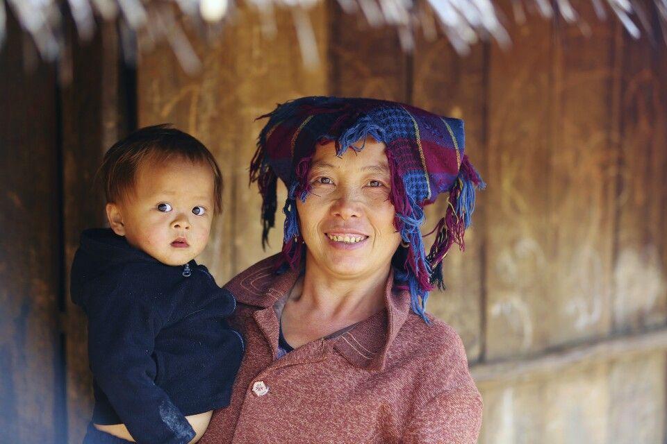 Begegnung im Norden von Laos bei den Khmu