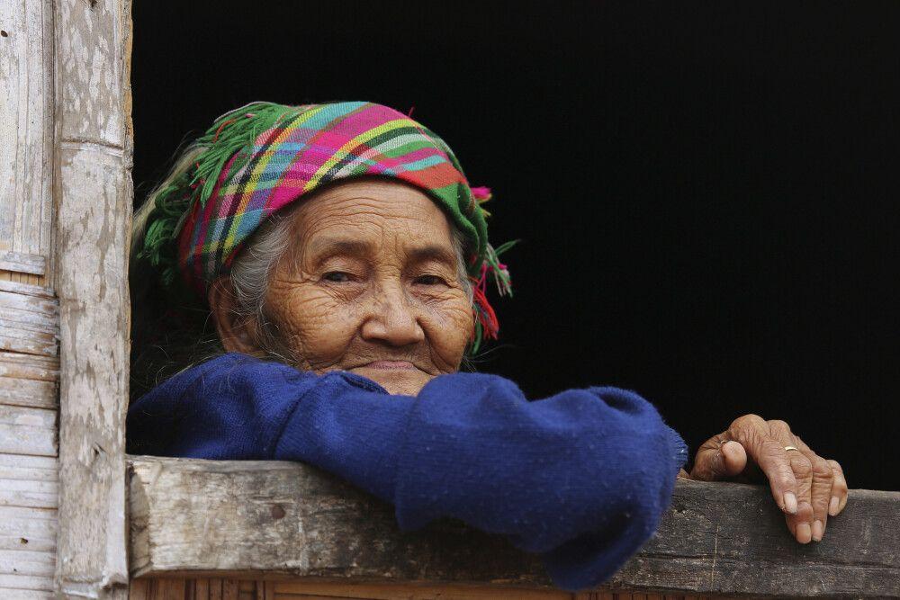 In einem Bergdorf in Laos