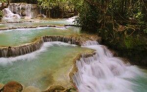 Beeindruckende Kuang-Si-Wasserfälle bei Luang Prabang