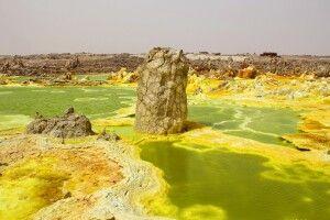 Schwefelterrassen Dallol, Danakil-Wüste