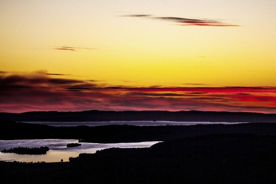 Sonnenuntergang über Finnland