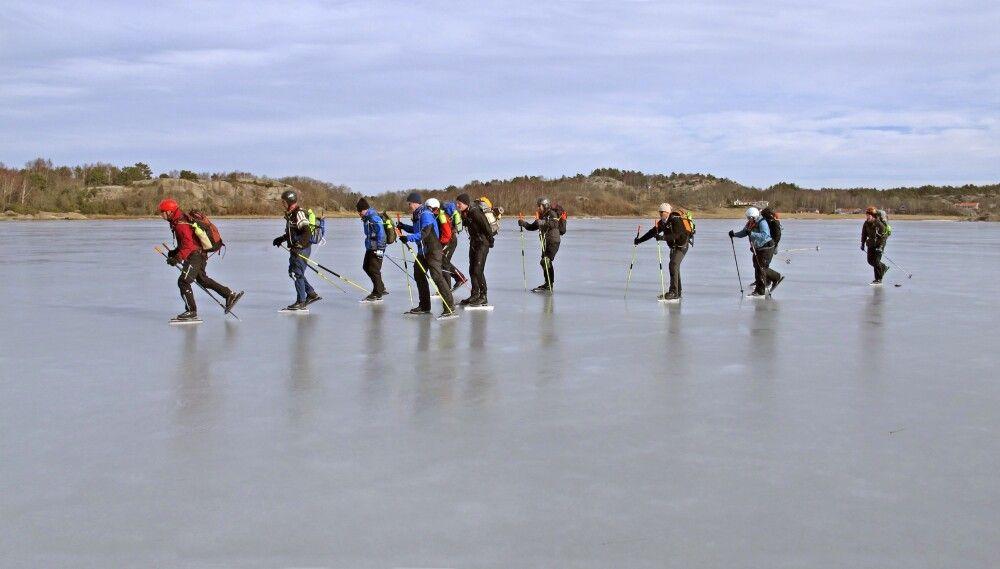 Unsere Gruppe auf dem Eis
