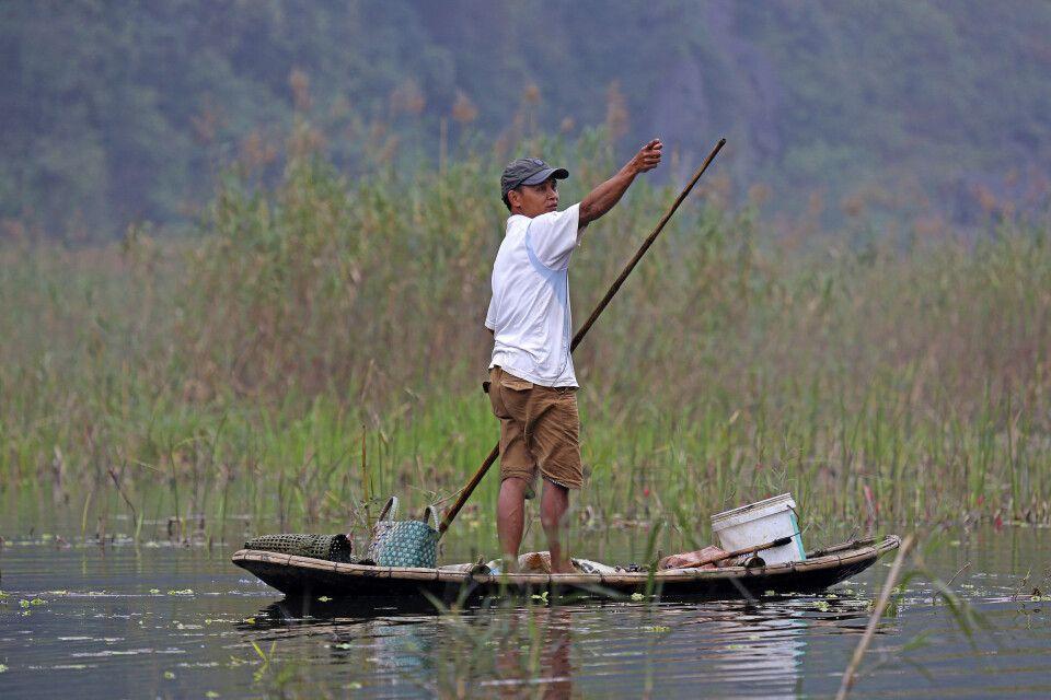 Fischer im Cuc-Phuong-Nationalpark
