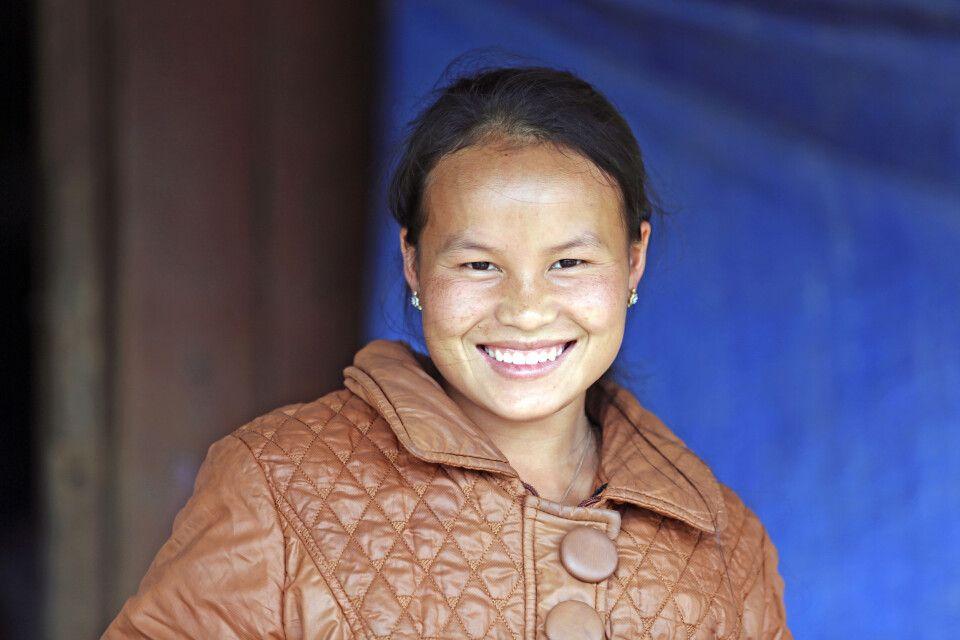 Laotische Frau im Norden des Landes