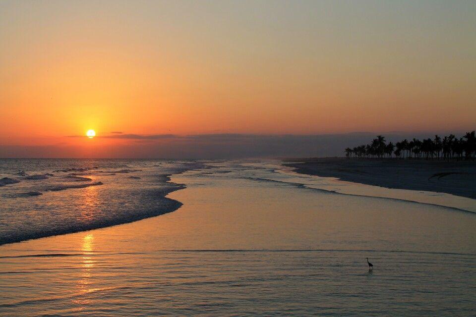 Sonnenuntergang am Strand von Salalah