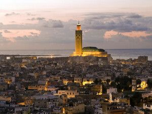 Blick aus dem Novotel Casablanca City Center