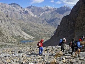 Aufstieg zum Trüben See – Blick zurück auf den Alaudinsee