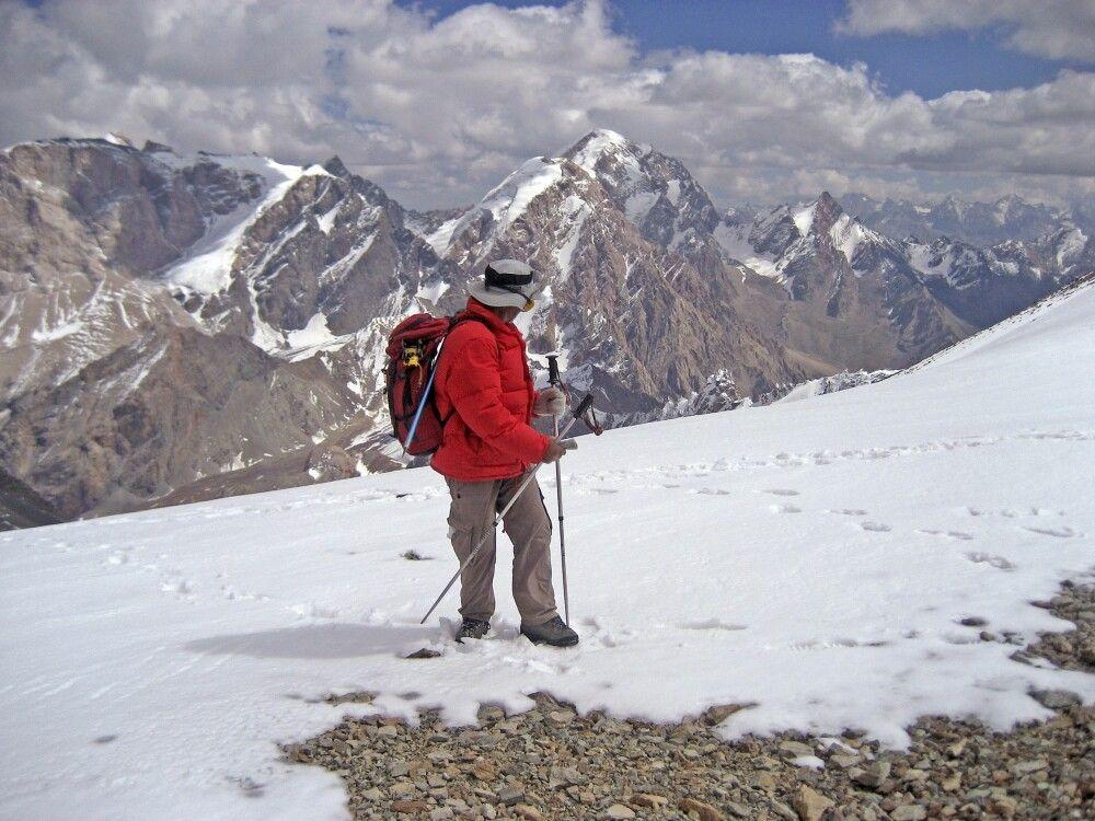 Aufstieg zum Gipfel Energie – ehemaliges Hochlager von 1972 auf 4800m