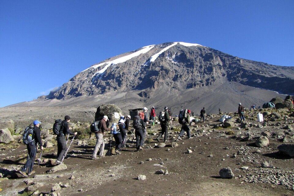 Aufstieg vom Karanga Camp