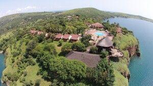 Aussicht auf das Kigoma Hilltop Hotel