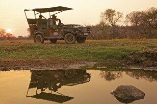 Auf Safari entlang des Ruaha Flusses