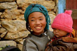 Geschwister im Khumbu-Tal