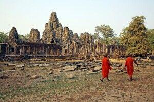 Mönche vor dem Bayon