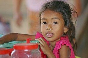Kind in Kambodscha