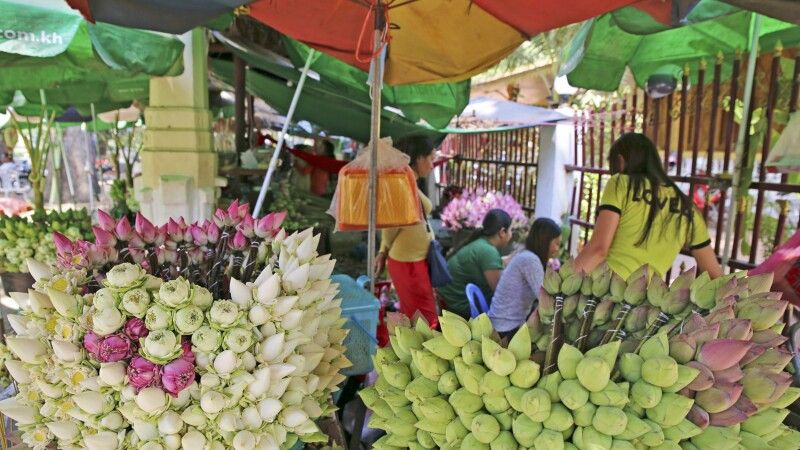 Blumenmarkt in Siem Reap © Diamir