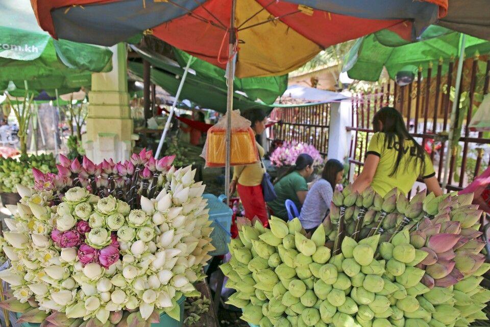 Blumenmarkt in Siem Reap