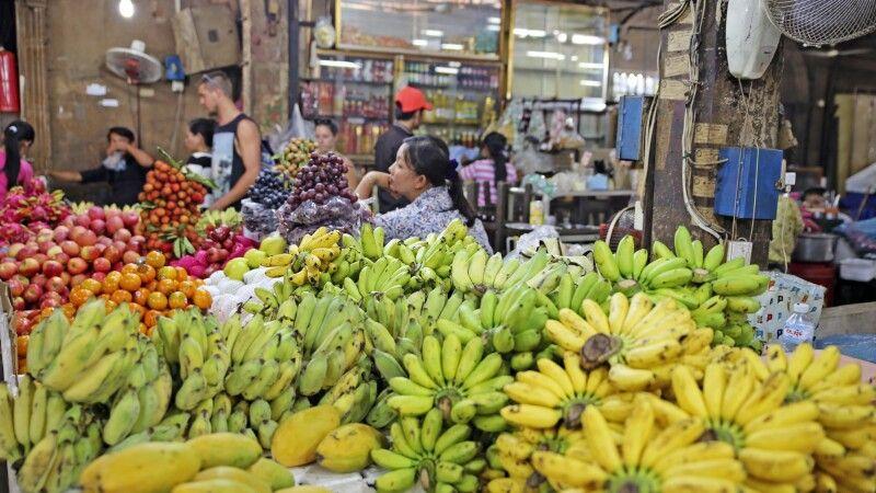 Obstmarkt in Siem Reap © Diamir
