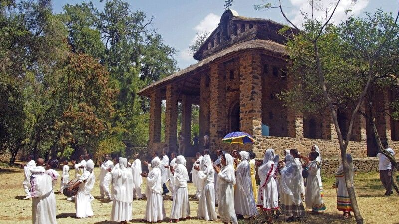 Prozession in Gondar © Diamir